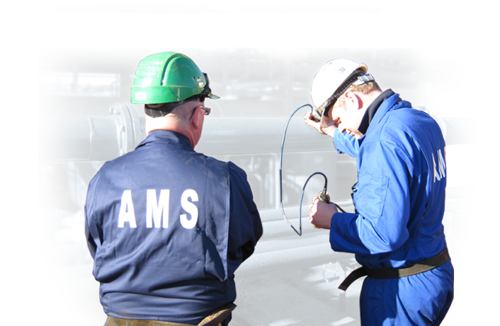 Two AWS Engineers inspecting some marine equipment